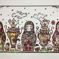 Towel Russian dolls